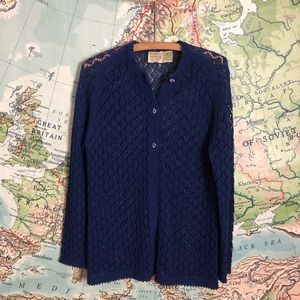 Vintage Lace Knit Grandma Cardigan